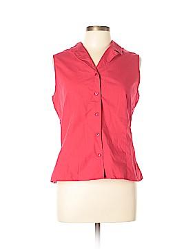 Casual Corner Annex Sleeveless Button-Down Shirt Size XL