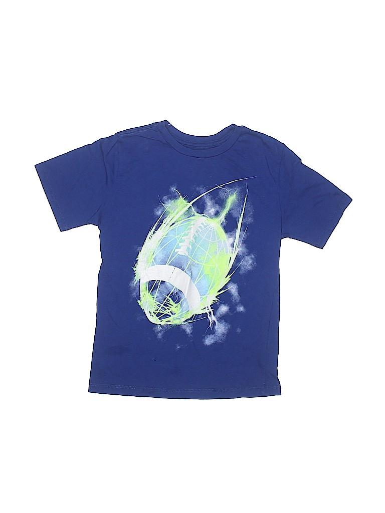 11a16e2b The Children's Place 100% Cotton Graphic Dark Blue Short Sleeve T ...