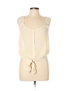 Mine Sleeveless Button-Down Shirt Size L