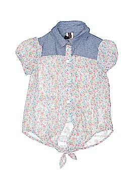 Lily Bleu Short Sleeve Blouse Size 7