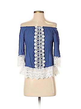 New York & Company 3/4 Sleeve Blouse Size S