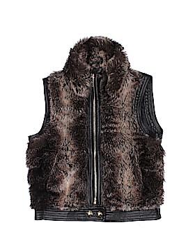 Sugarfly Faux Fur Vest Size 6