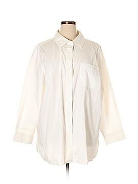 Denim 24/7 Long Sleeve Button-Down Shirt Size 24 (Plus)