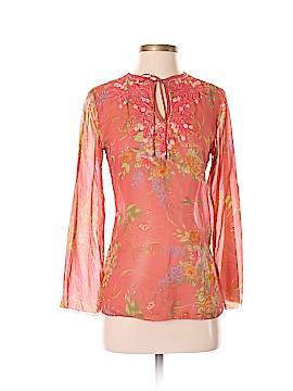 CAbi Long Sleeve Silk Top Size XS