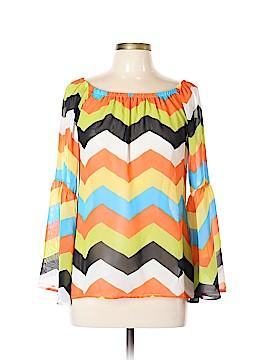 Yahada Long Sleeve Blouse Size L