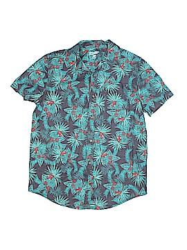 Arizona Jean Company Short Sleeve Button-Down Shirt Size 14 (Husky)