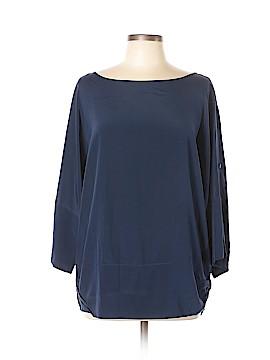 DKNY 3/4 Sleeve Silk Top Size L
