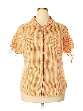 Tommy Hilfiger Short Sleeve Button-Down Shirt Size 22 (Plus)