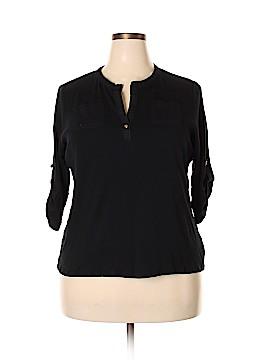 Lauren by Ralph Lauren 3/4 Sleeve Henley Size 2X (Plus)