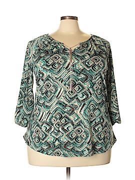 Roz & Ali 3/4 Sleeve Top Size 2X (Plus)