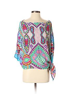 Analili Short Sleeve Silk Top Size XS/S