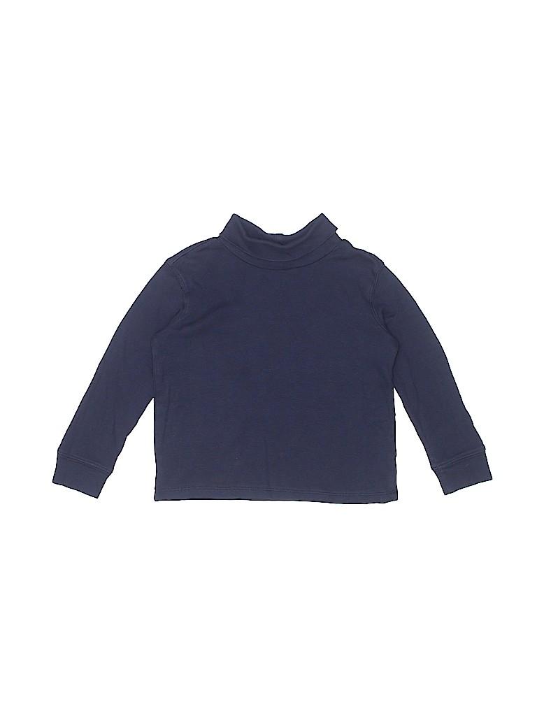 cc47c1c8d7 OshKosh B gosh 100% Cotton Solid Navy Blue Long Sleeve Turtleneck ...