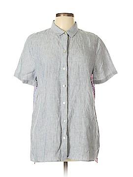 J.jill Short Sleeve Button-Down Shirt Size M (Tall)