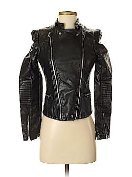 Zara TRF Faux Leather Jacket Size S