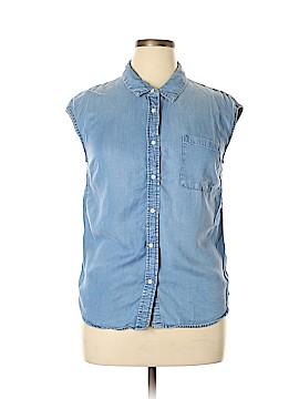 Merona Sleeveless Button-Down Shirt Size L