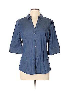 7th Avenue Design Studio New York & Company 3/4 Sleeve Button-Down Shirt Size L