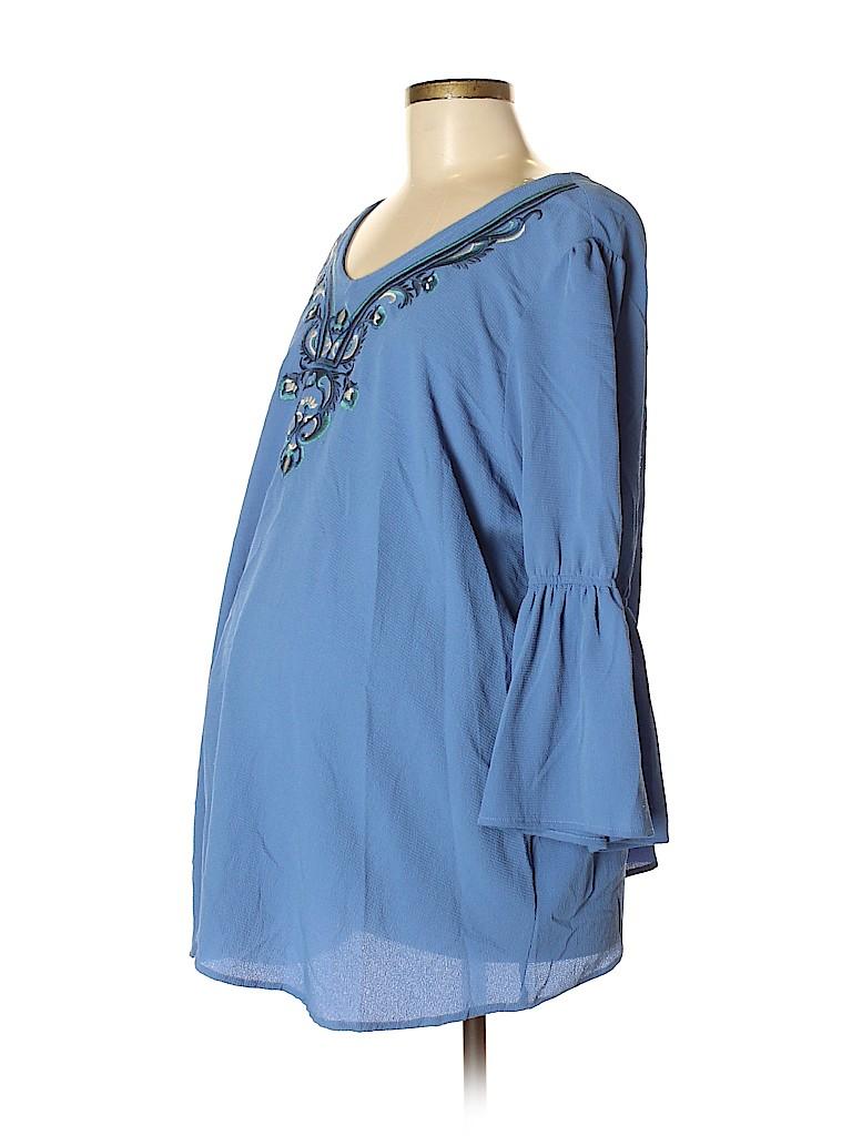 OCTAVIA Maternity Women 3/4 Sleeve Blouse Size XL (Maternity)