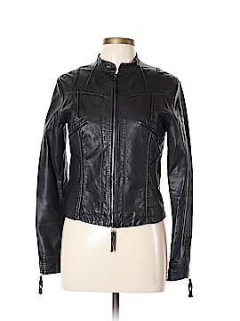 Studio M Faux Leather Jacket Size L