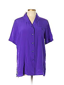 Diane Gilman Short Sleeve Silk Top Size M