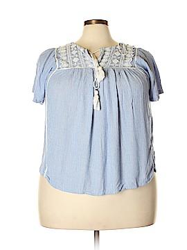 M&Co Short Sleeve Blouse Size 18 (Plus)