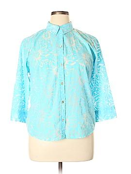 Crazy Horse 3/4 Sleeve Button-Down Shirt Size 16