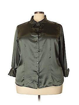 Jaclyn Smith Long Sleeve Blouse Size 22W (Plus)