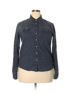 Alfani Long Sleeve Button-Down Shirt Size XL