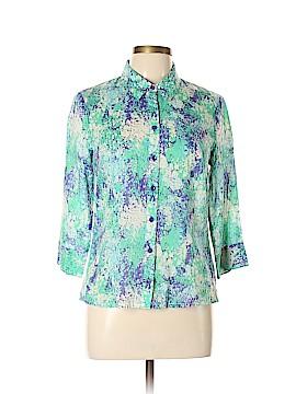 Coldwater Creek Short Sleeve Button-Down Shirt Size 8