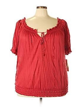 Belle Du Jour Short Sleeve Top Size 3X (Plus)