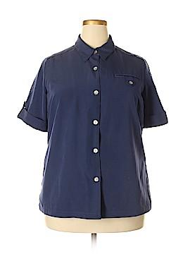 Travelsmith Short Sleeve Blouse Size 1X (Plus)