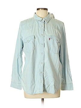 Levi's Long Sleeve Button-Down Shirt Size 1X (Plus)