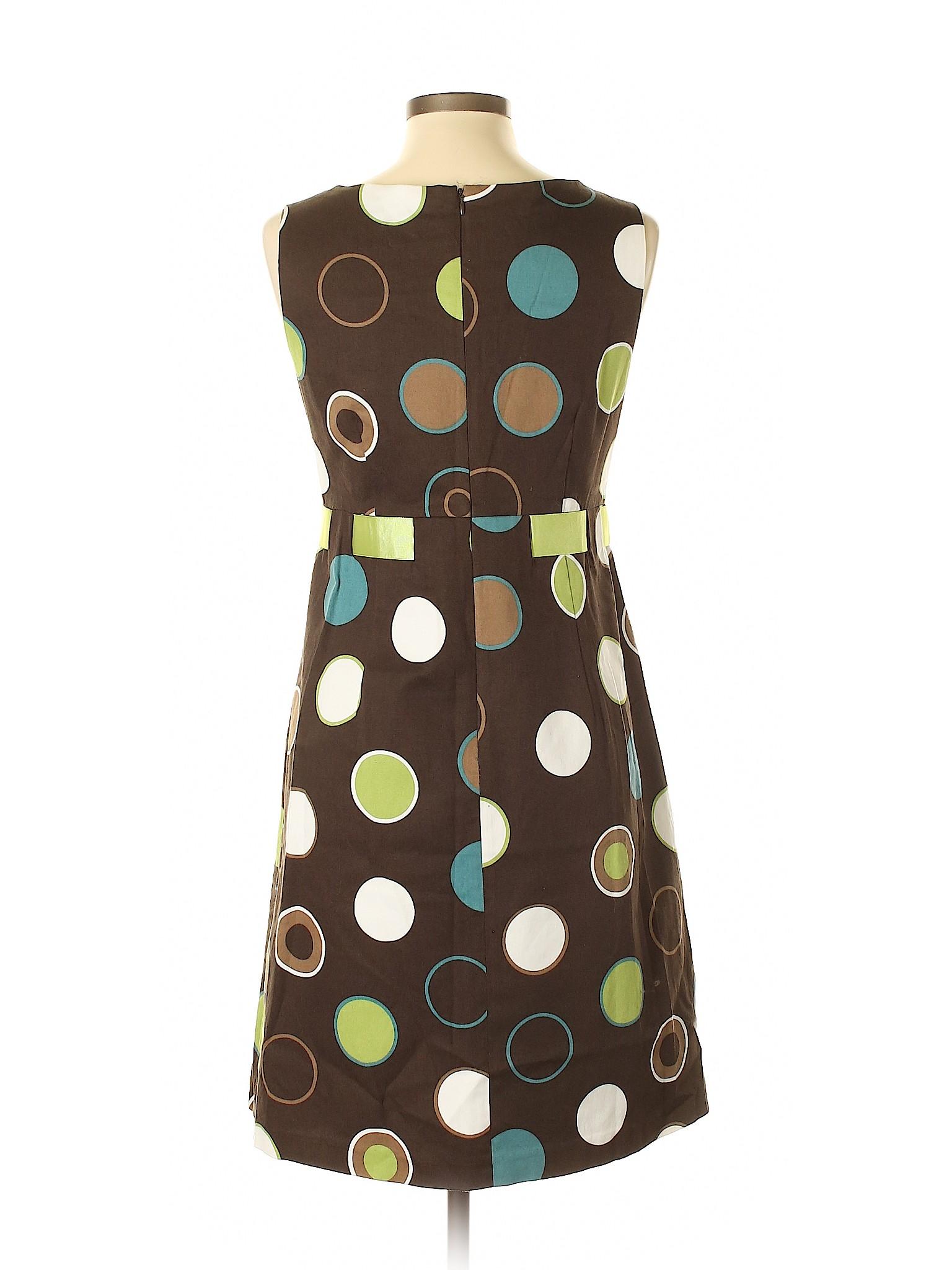 b5bc43394a7b9 Jessica Howard Polka Dots Brown Casual Dress Size 14 - 66% off | thredUP