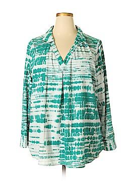 Kelly By Clinton Kelly Long Sleeve Blouse Size 2X (Plus)