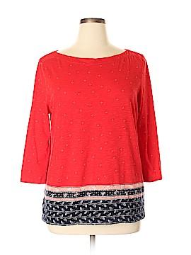 Ann Taylor LOFT Outlet 3/4 Sleeve T-Shirt Size XL