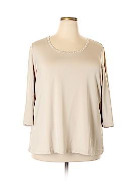 Susan Graver 3/4 Sleeve Top Size 2X (Plus)