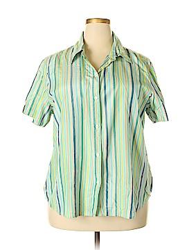 Liz Claiborne Short Sleeve Silk Top Size 20 (Plus)