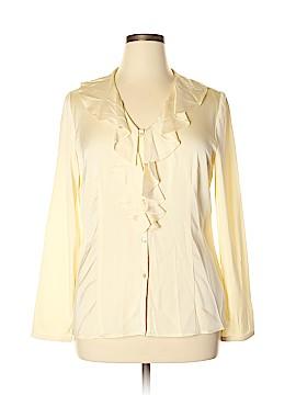 Talbots 3/4 Sleeve Silk Top Size 14
