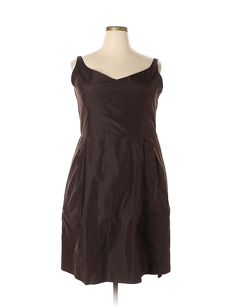 ce2a48824b Ann Taylor 100% Silk Solid Brown Cocktail Dress Size 18 (Plus) - 78 ...