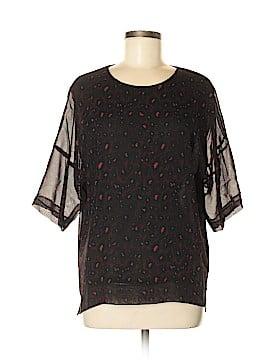 Gerard Darel Short Sleeve Silk Top Size 6 (38)
