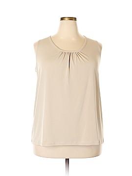 Susan Graver Sleeveless Blouse Size 2X (Plus)