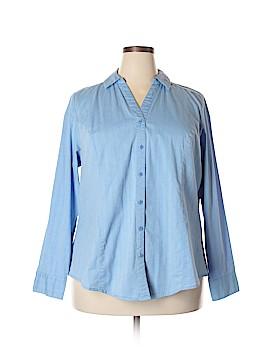 Lane Bryant Long Sleeve Button-Down Shirt Size 22 (Plus)