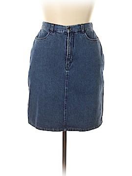 L.L.Bean Denim Skirt Size 14