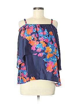 Tanya Taylor Short Sleeve Silk Top Size 6