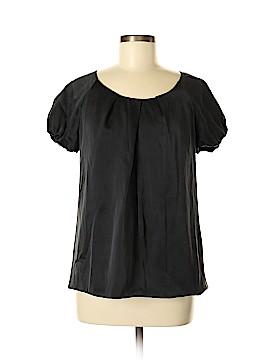 White House Black Market Short Sleeve Silk Top Size M