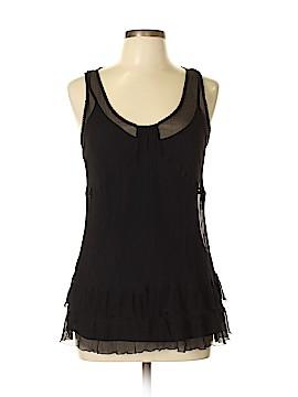 Wrap Sleeveless Silk Top Size 16 (UK)