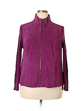 Jessica London Leather Jacket Size 18 - 20 (Plus)