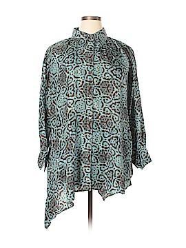 Lynn Ritchie Long Sleeve Silk Top Size L