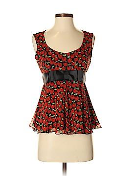 Anna Sui Sleeveless Silk Top Size 2