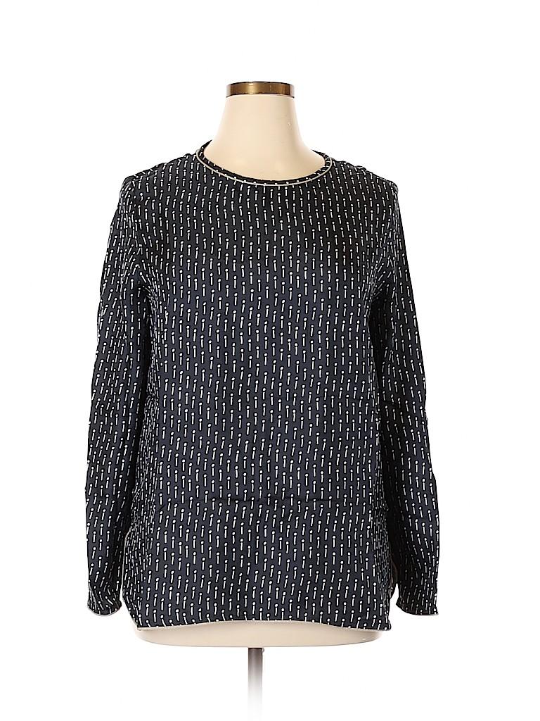 Max Mara Women Long Sleeve Silk Top Size 14
