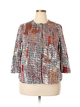 Anne Klein 3/4 Sleeve Button-Down Shirt Size 14